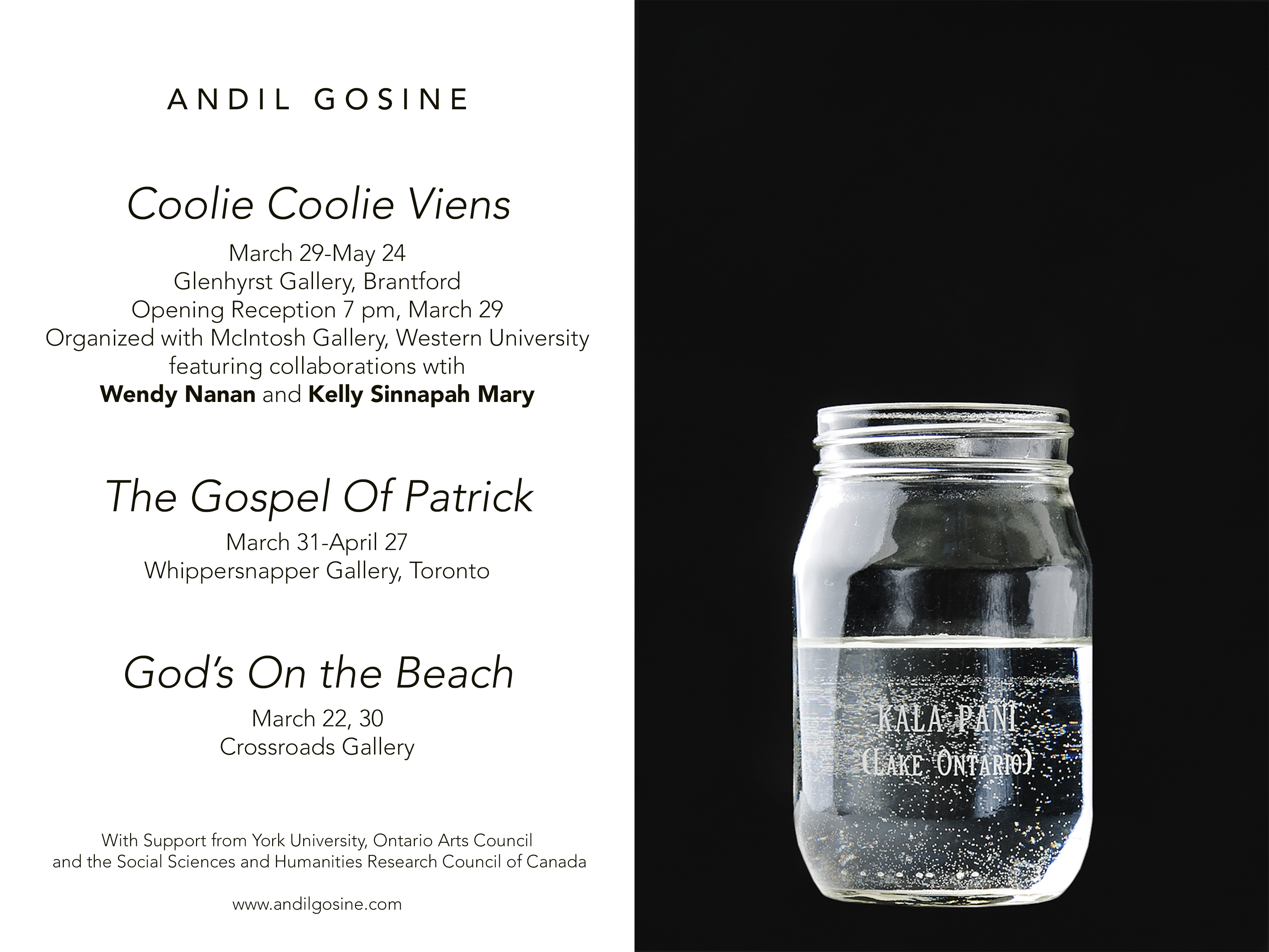 Andil Gosine exhibition announcement
