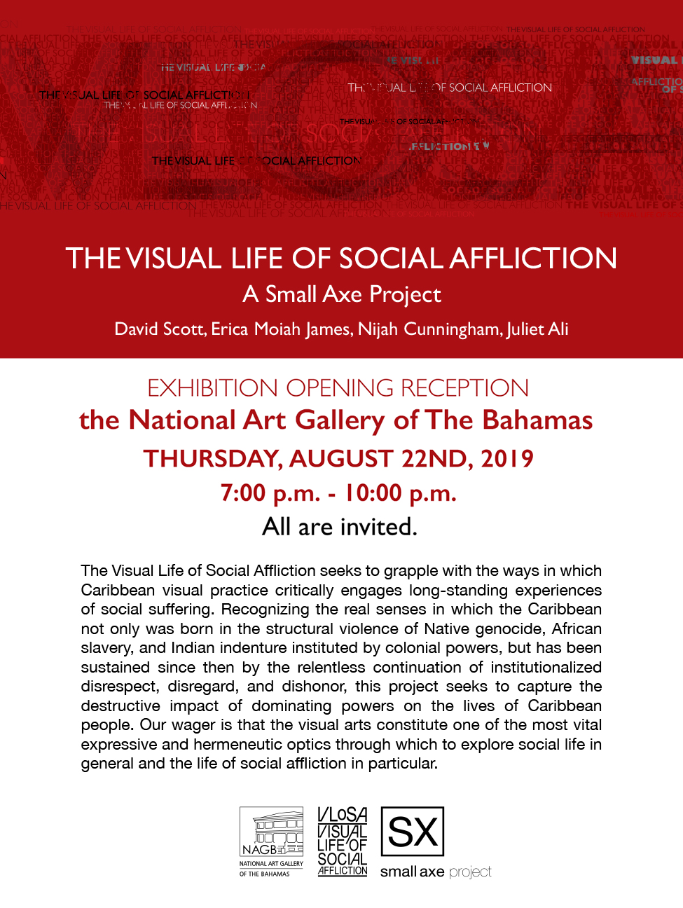 The Visual Life of Social Affliction Exhibition Opening Reception