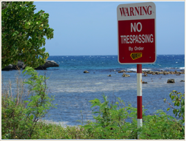 """NWA Warning"" photograph courtesy of the Jamaica Environment Trust"