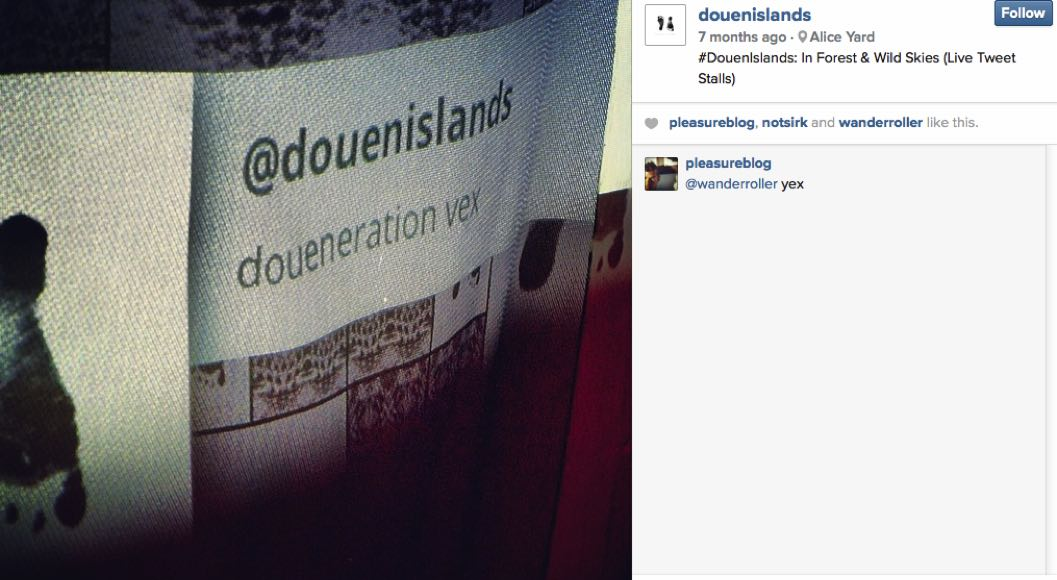 Screen capture of the Douen Islands Instagram account