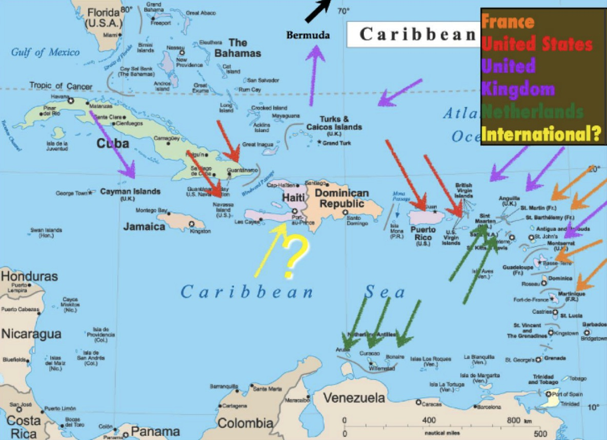 Sxa Visualizing Sovereignty - Central america caribbean physical map 2002