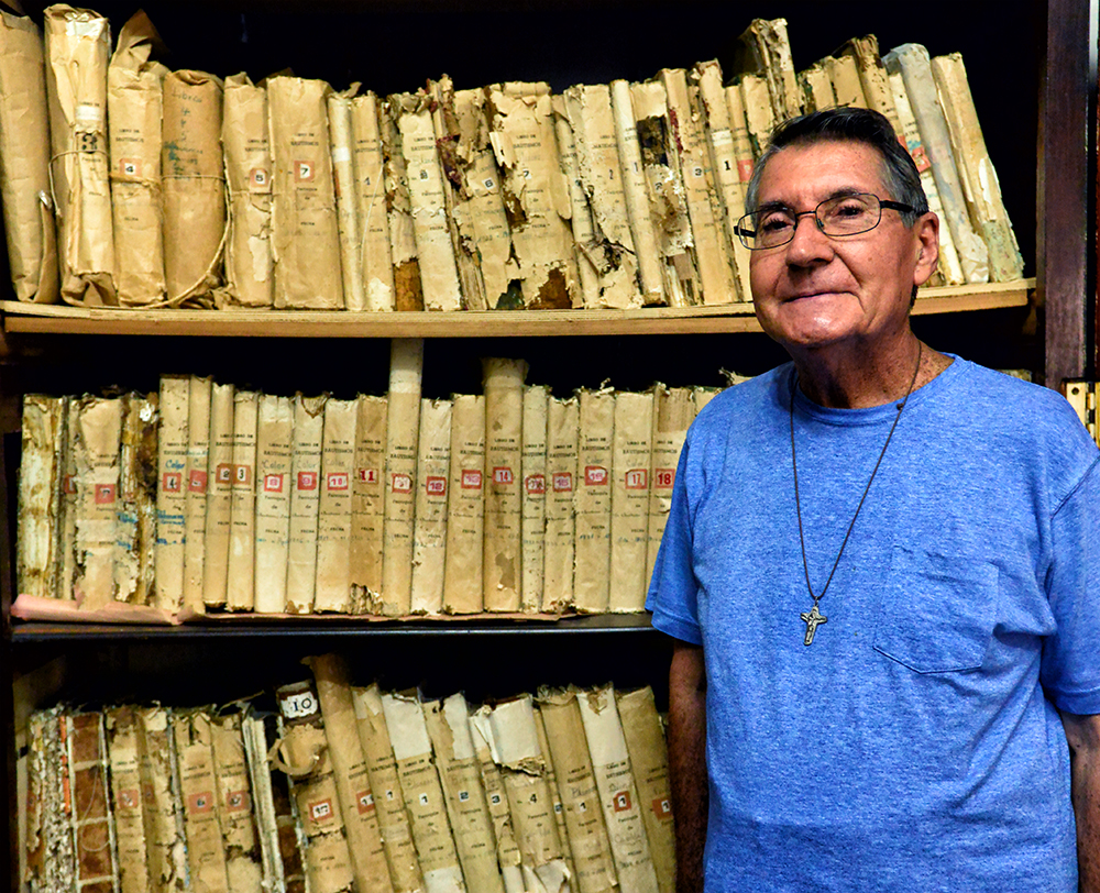 Father Bendito with Part of the Archive