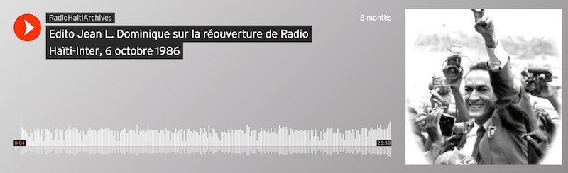 Jean L. Dominique's Editorial on the Reopening of Radio Haïti-Inter