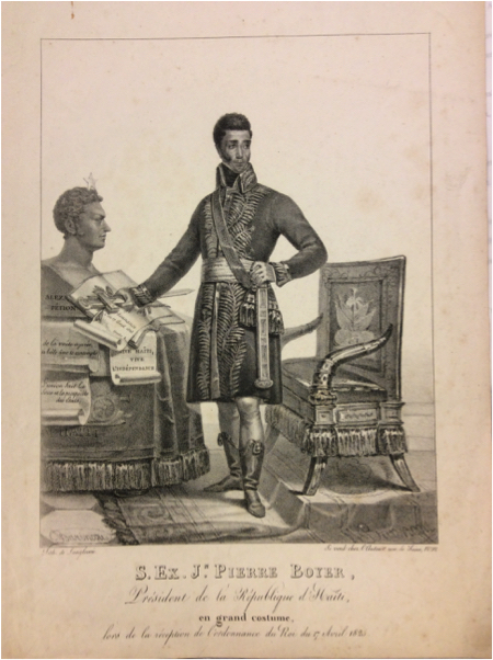 Engraving by Barincou of Boyer in full dress uniform for a royal reception, 17 April 1825.